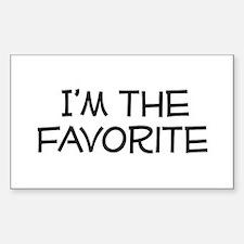 I'm the Favorite Rectangle Bumper Stickers
