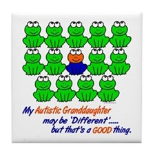 Different FROGS 1 (Granddaughter) Tile Coaster