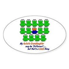 Different FROGS 1 (Granddaughter) Oval Decal