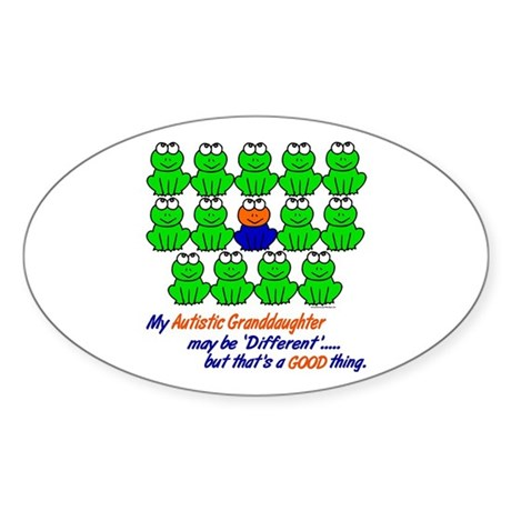 Different FROGS 1 (Granddaughter) Oval Sticker