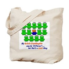 Different FROGS 1 (Granddaughter) Tote Bag