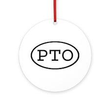 PTO Oval Ornament (Round)
