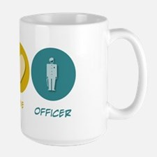 Peace Love Officer Large Mug