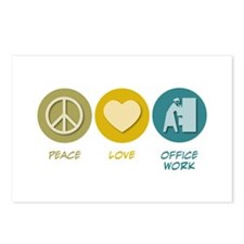 Peace Love Office Work Postcards (Package of 8)
