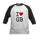 Great Britain Heart Kids Baseball Jersey