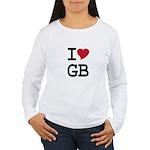 Great Britain Heart Women's Long Sleeve T-Shirt