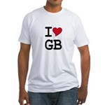 Great Britain Heart Fitted T-Shirt