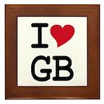 Great Britain Heart Framed Tile