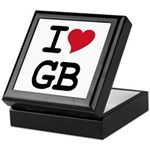 Great Britain Heart Keepsake Box