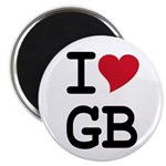"Great Britain Heart 2.25"" Magnet (10 pack)"