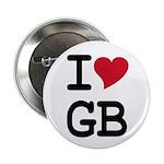 "Great Britain Heart 2.25"" Button"