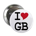 "Great Britain Heart 2.25"" Button (10 pack)"