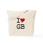 Great Britain Heart Tote Bag