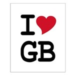 Great Britain Heart Small Poster