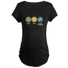Peace Love Office Managing T-Shirt
