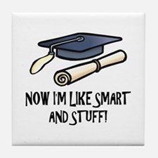 Smart Funny Grad Tile Coaster