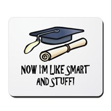 Smart Funny Grad Mousepad