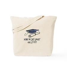 Smart Funny Grad Tote Bag