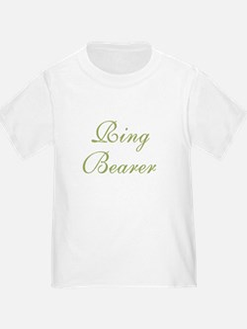 Ring Bearer Green Text T
