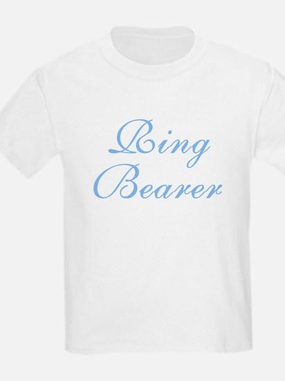Ring Bearer Blue Elegant Text Kids T-Shirt