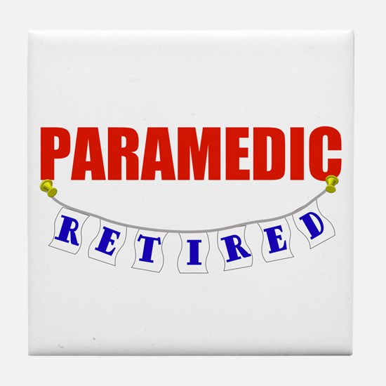 Retired Paramedic Tile Coaster