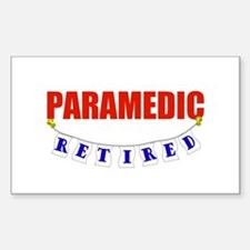 Retired Paramedic Rectangle Decal