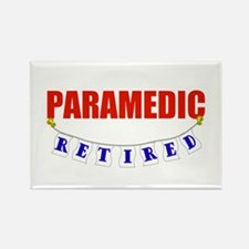 Retired Paramedic Rectangle Magnet
