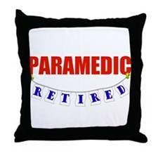 Retired Paramedic Throw Pillow