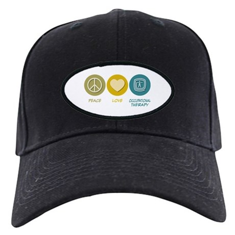 Peace Love Occupational Therapy Black Cap