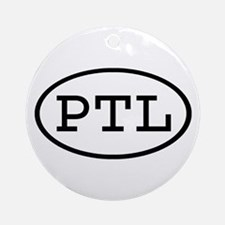 PTL Oval Ornament (Round)