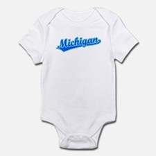 Retro Michigan (Blue) Infant Bodysuit