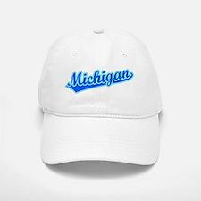 Retro Michigan (Blue) Baseball Baseball Cap