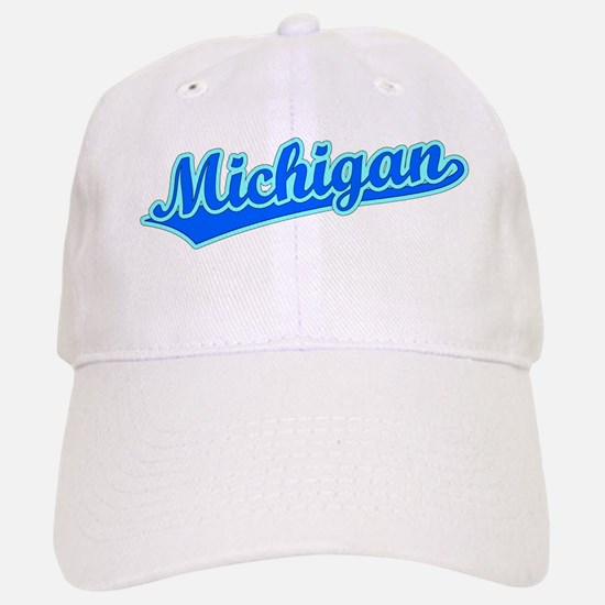 Retro Michigan (Blue) Baseball Baseball Cap
