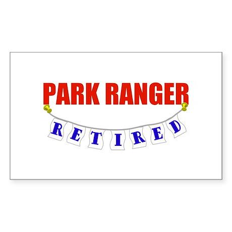 Retired Park Ranger Rectangle Sticker