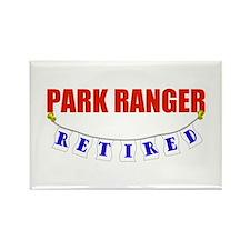 Retired Park Ranger Rectangle Magnet
