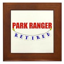 Retired Park Ranger Framed Tile