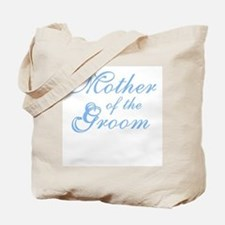 Mother of Groom Blue Elegant Text Tote Bag