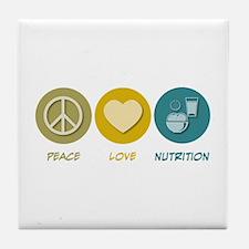 Peace Love Nutrition Tile Coaster