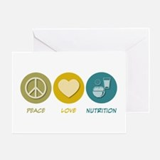 Peace Love Nutrition Greeting Card