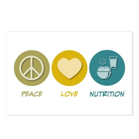 Peace Love Nutrition Postcards (Package of 8)