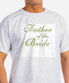 Father of the Bride Green Text Ash Grey T-Shirt