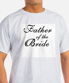 Father of the Bride Black Text Ash Grey T-Shirt