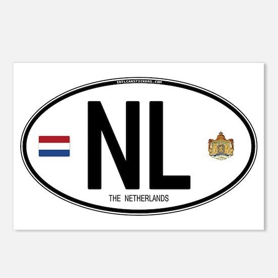 Netherlands Intl Oval Postcards (Package of 8)