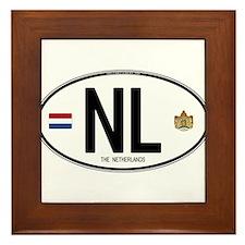 Netherlands Intl Oval Framed Tile