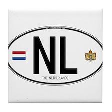 Netherlands Intl Oval Tile Coaster