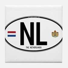 Netherlands Intl Oval Tile Coaster