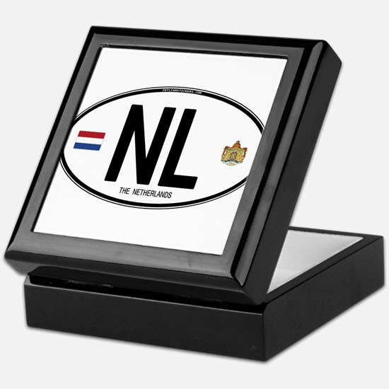 Netherlands Intl Oval Keepsake Box