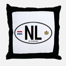 Netherlands Intl Oval Throw Pillow