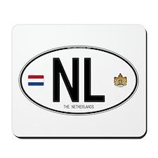 Netherlands Intl Oval Mousepad