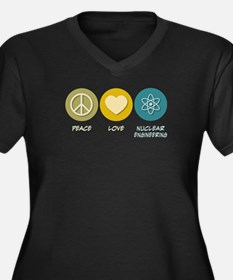 Peace Love Nuclear Engineering Women's Plus Size V